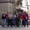 Alguns alumnes de 2D davant de Santa Maria del Mar
