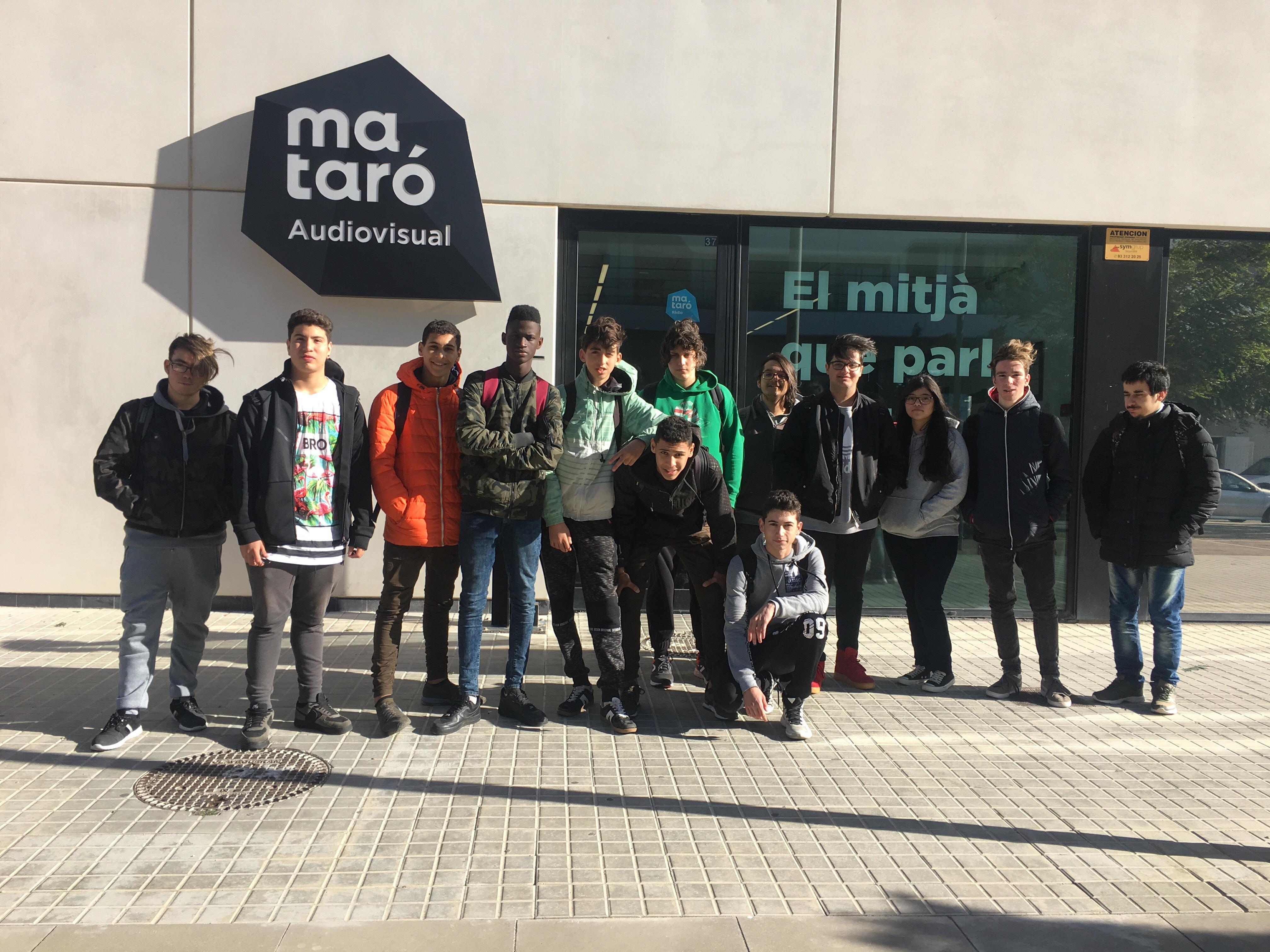 Els alumnes del PFI informàtic visiten Mataró Audiovisual