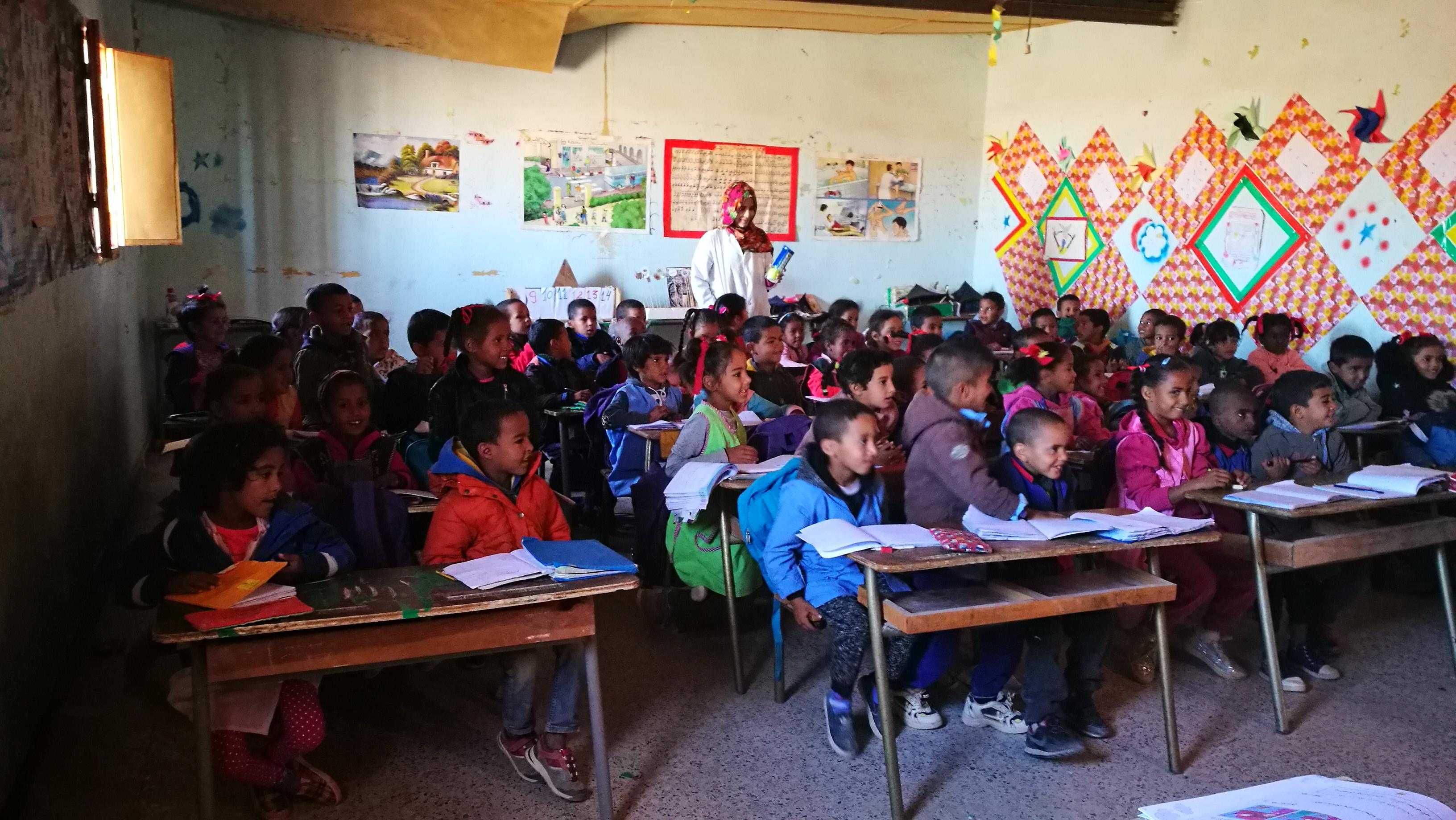 La professora Rosa Conesa va visitar un camp de refugiats saharaui