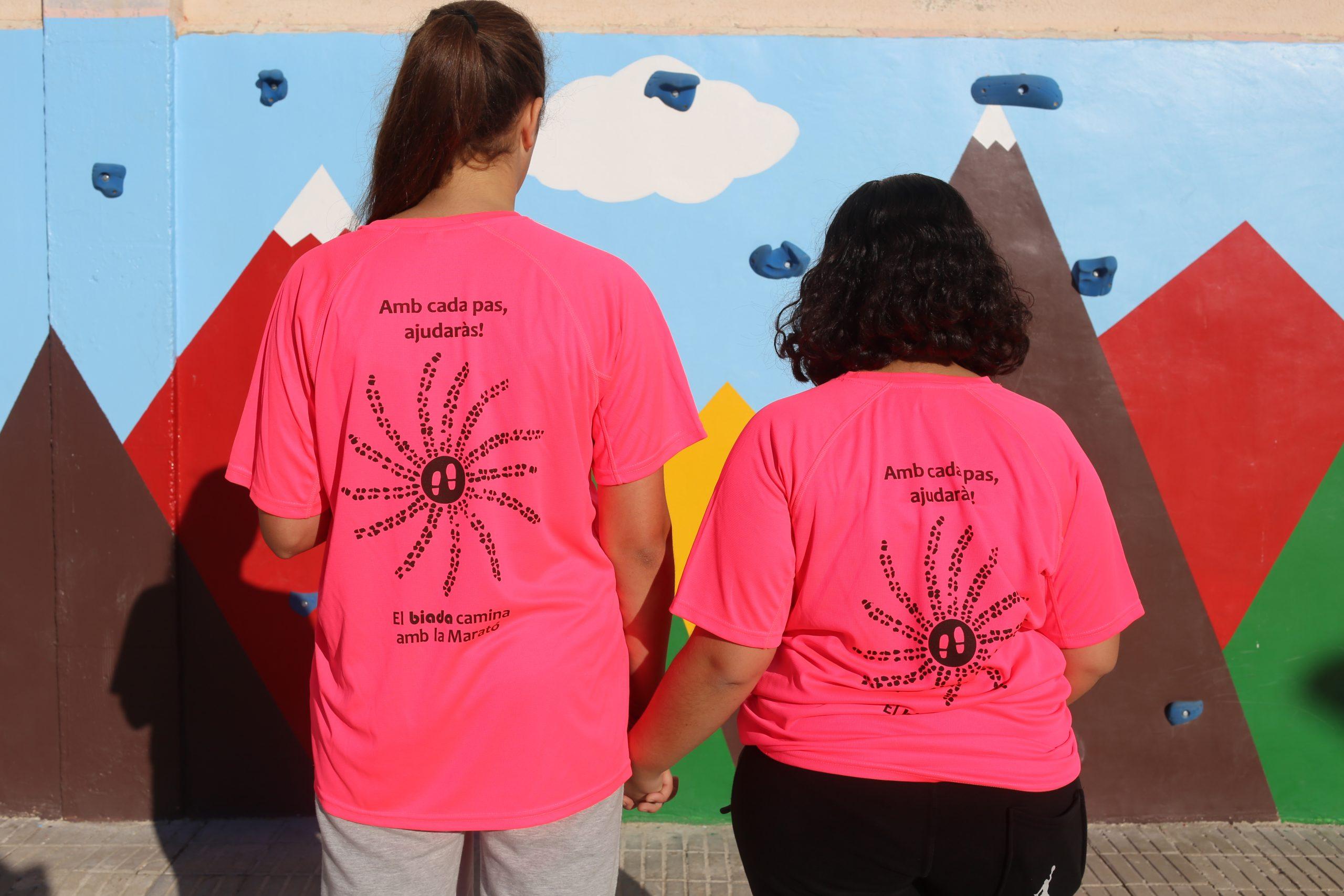Aquesta és la samarreta de la marxa organitzada per l'institut